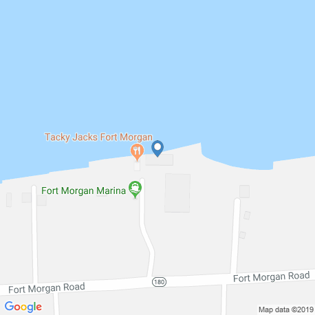 map of fishing charters in Fort Morgan