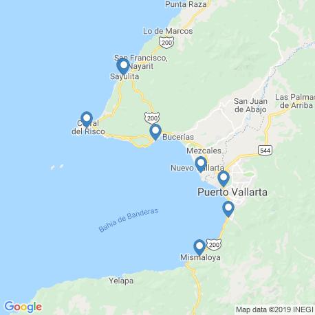 Karte der Angebote in Puerto Vallarta