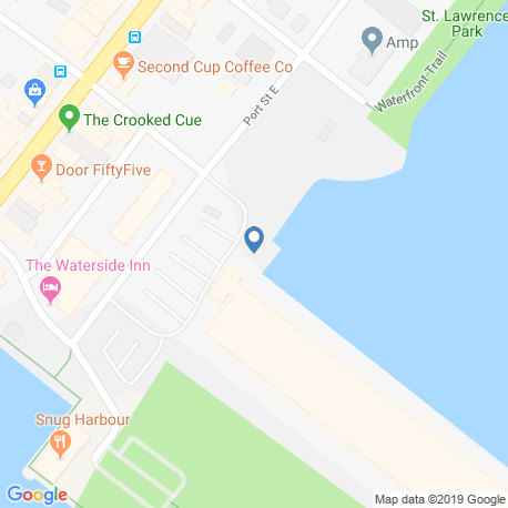 map of fishing charters in Port Credit