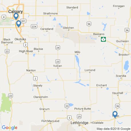 map of fishing charters in Alberta