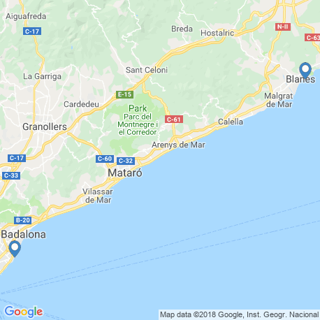 map of fishing charters in Arenys De Mar,Barcelona