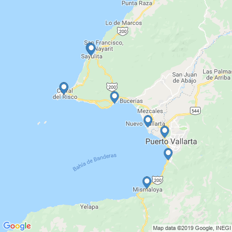 map of fishing charters in Puerto Vallarta