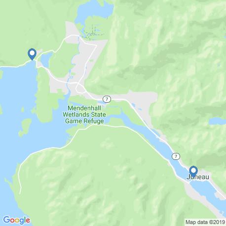 map of fishing charters in Juneau