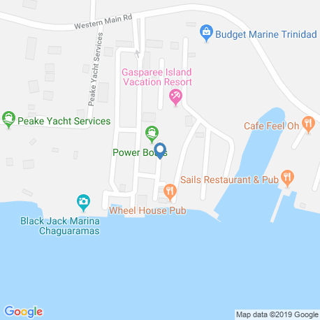 map of fishing charters in Chaguaramas