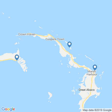 map of fishing charters in Abaco