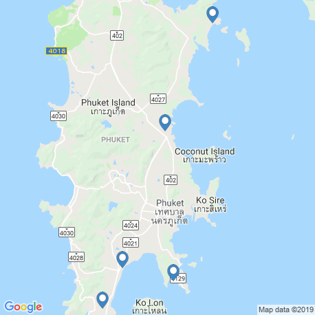 map of fishing charters in Chalong