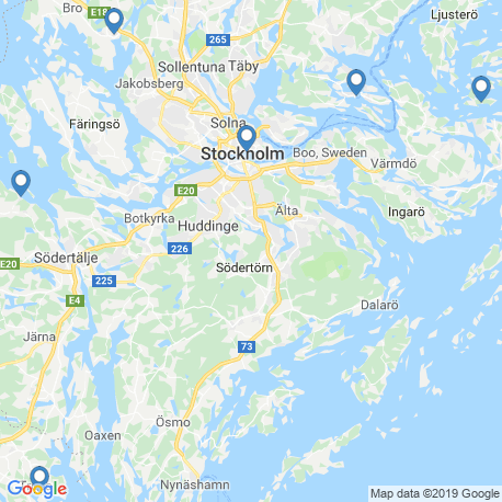 map of fishing charters in Stockholm