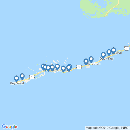 map of fishing charters in Little Torch Key