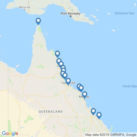 Карта рыбалки – Большой Барьерный риф
