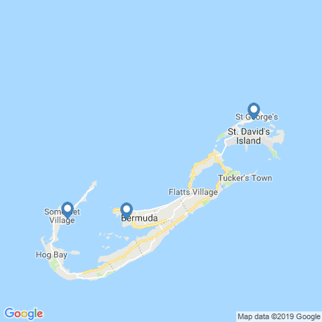 map of fishing charters in Hamilton
