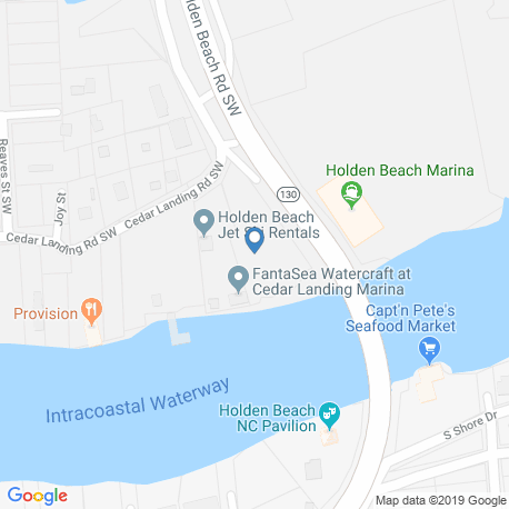 map of fishing charters in Holden Beach