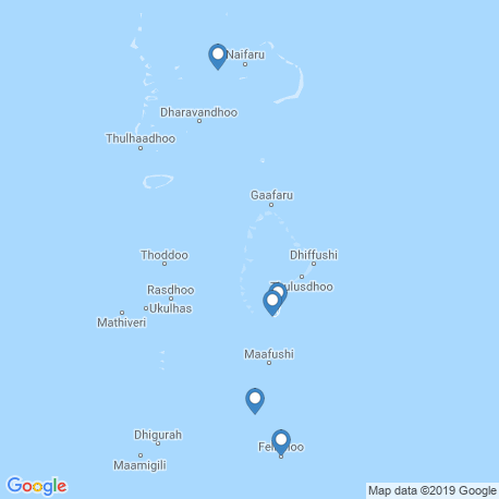 map of fishing charters in Fulidhoo
