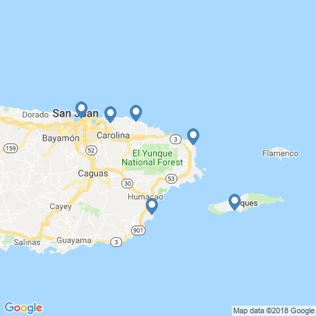 map of fishing charters in Loíza