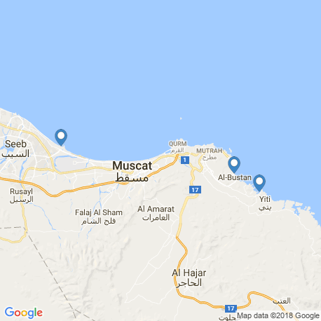 map of fishing charters in Muscat