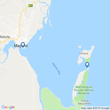 map of fishing charters in Maputo