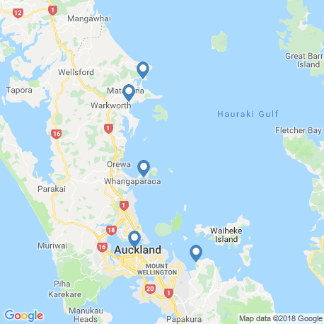 map of fishing charters in Auckland