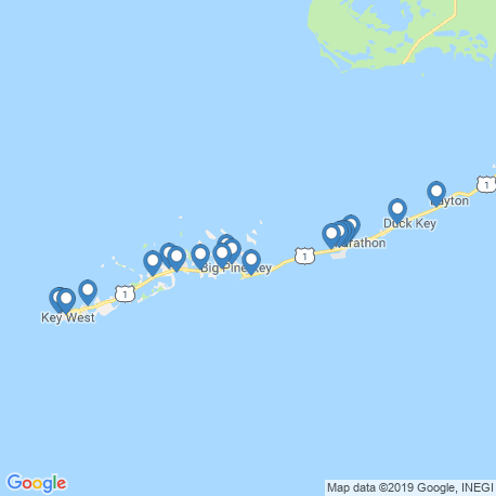 map of fishing charters in Summerland Key