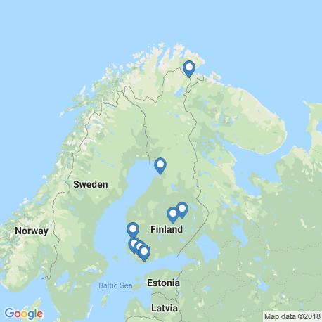 map of fishing charters in Финляндия