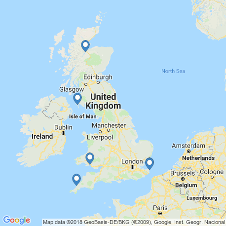 map of fishing charters in United Kingdom