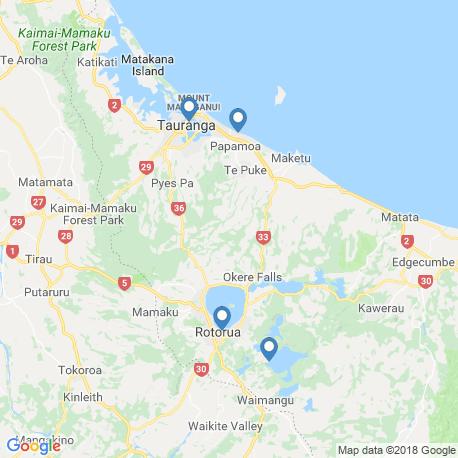 map of fishing charters in Tauranga