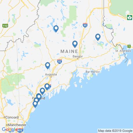 Карта рыбалки – Мэн