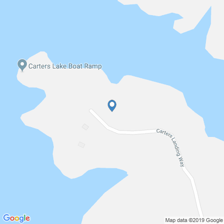 map of fishing charters in Carters Lake
