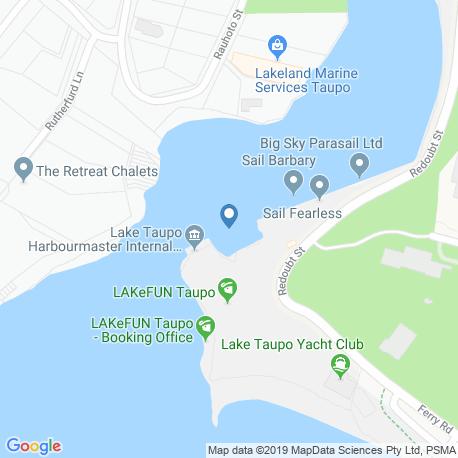 Карта рыбалки – Таупо (озеро)