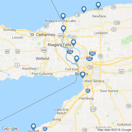 map of fishing charters in Buffalo