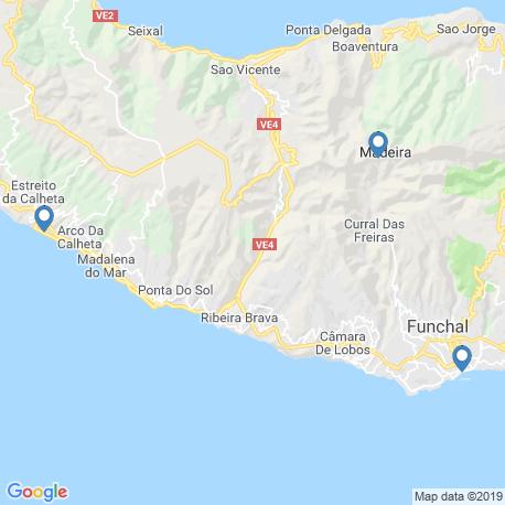 map of fishing charters in Calheta