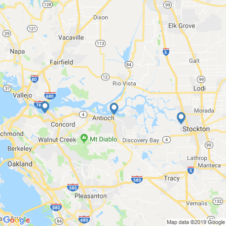 map of fishing charters in San Joaquin River