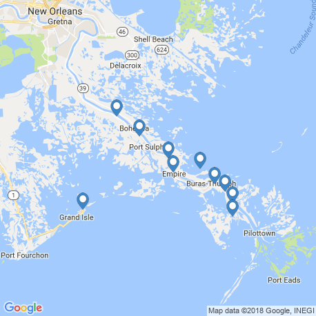 map of fishing charters in Venice