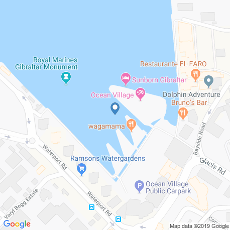 map of fishing charters in Gibraltar