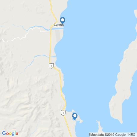 map of fishing charters in Loreto