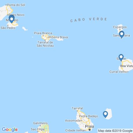 map of fishing charters in Kap Verde