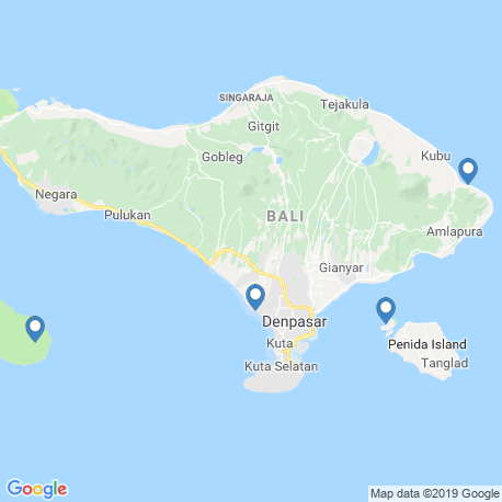 map of fishing charters in Bali