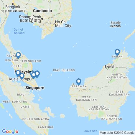 Карта чартеров – Малайзия