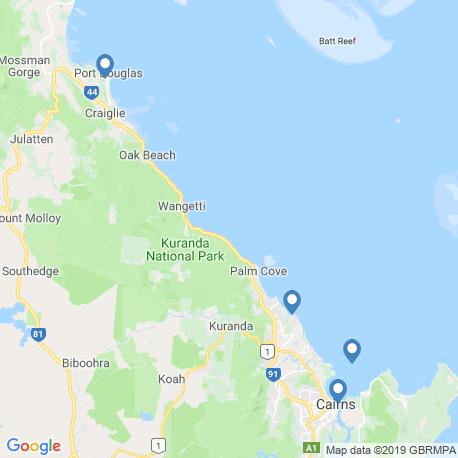 Карта рыбалки – Кэрнс
