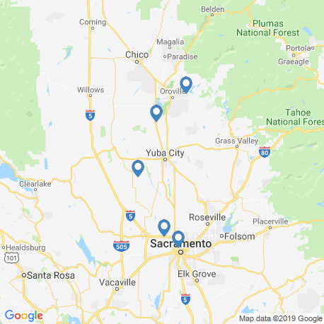 map of fishing charters in Feather River