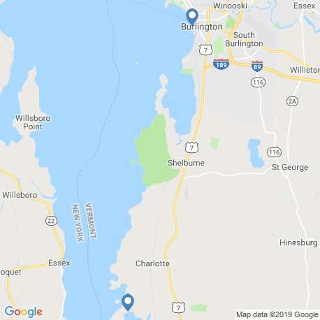 map of fishing charters in Vermont