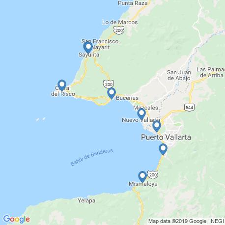 map of fishing charters in La Cruz De Huanacaxtle