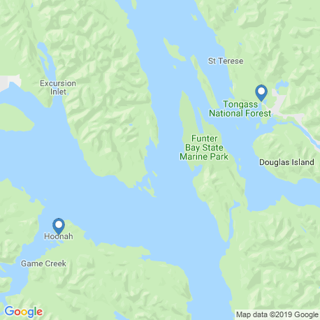 map of fishing charters in Juneau