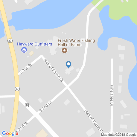 map of fishing charters in Hayward