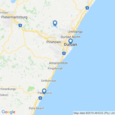 Karte der Angebote in Durban