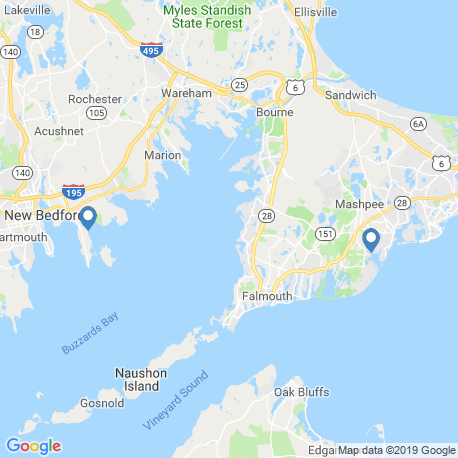 map of fishing charters in Buzzards Bay