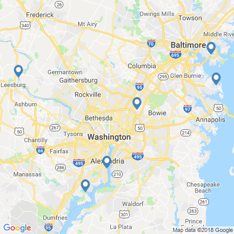 map of fishing charters in Gaithersburg
