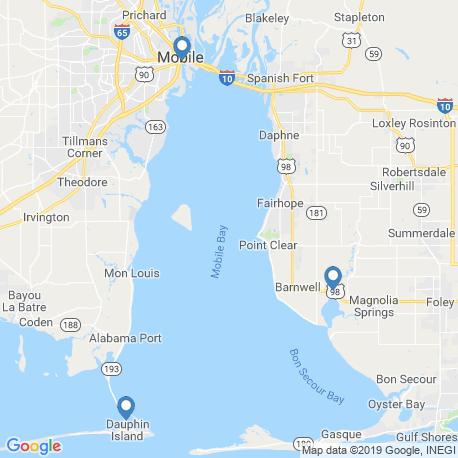 Карта рыбалки – Бухта Мобил (залив)