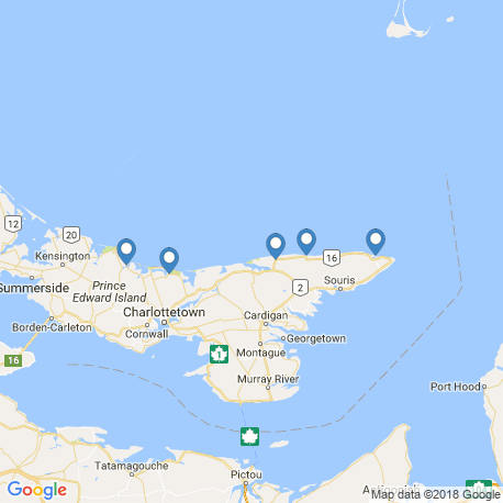 map of fishing charters in St. Peters Bay