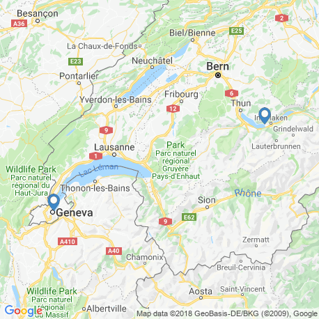 map of fishing charters in Switzerland
