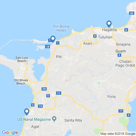 map of fishing charters in Hagåtña