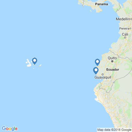 map of fishing charters in Эквадор